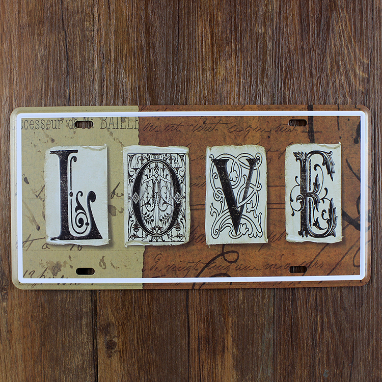 metal painting love slogan doorplate garage poster retro license plate house bar cafe decoration vintage wall art decor 1530 cm in painting calligraphy