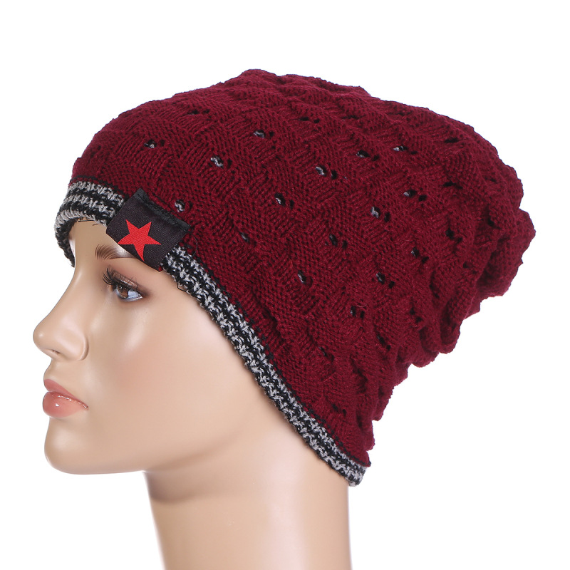 Knit Beanie Apparel-Accessories Hat Baggy-Cap Warm Winter Unisex Women New-Fashion Dot