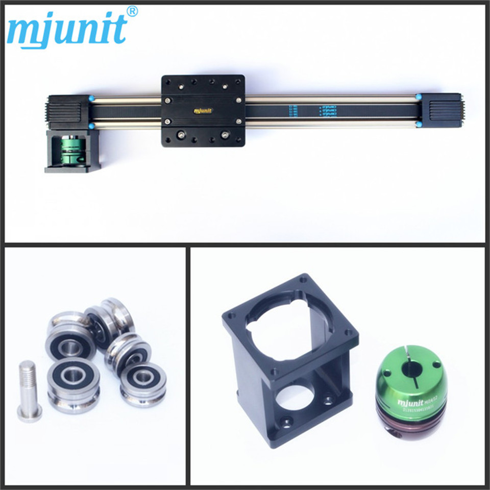 Guide rail/ for medical 12v electric heavy duty Flanged  bearing guideway roller linear actuator Motion ball linear rail guide roller shaft guideway toothed belt driven