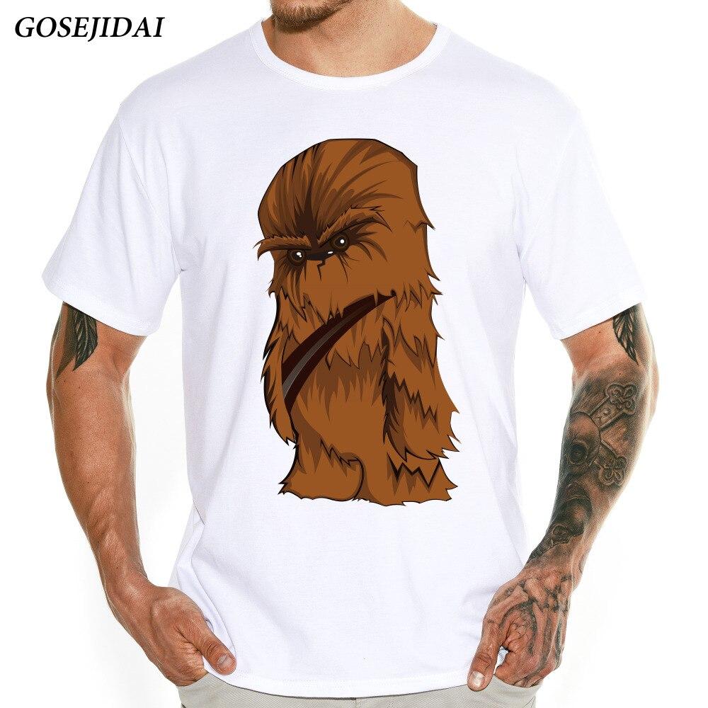 2018 Fashion Men's Star Wars Cartoon Chewbacca Design T