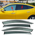 Car Stylingg Awnings Shelters 4pcs/lot Window Visors For Honda Crosstour 2011-2016 Sun Rain Shield Stickers Covers