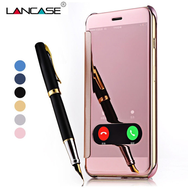 new style dcf06 5438c US $8.27 |LANCASE Case For iPhone 6s Case Flip Mirror Smart Window View For  iPhone 6 6s Plus Case PU Leather PC Cover For iPhone 6s Fundas-in Flip ...