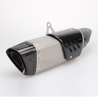 Universal Motorcycle Exhaust Pipe And Heat ShieldMoto Pot Escape Silencer For Yamaha Kawasaki Yamaha Benelli KTM Sport Slip on|Exhaust & Exhaust Systems| |  -