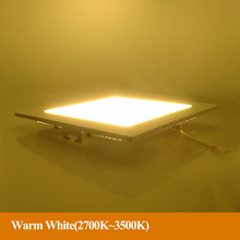 Slim LED Spot lights AC110v 220v LED downlight 3W/4W/6W/9W/12W/15W/18W Recessed led ceiling Square painel led White for home