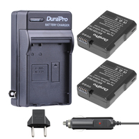 2pc EN EL14 EN EL14 EL14A Camera Li Ion Battery Car Charger EU Plug For Nikon