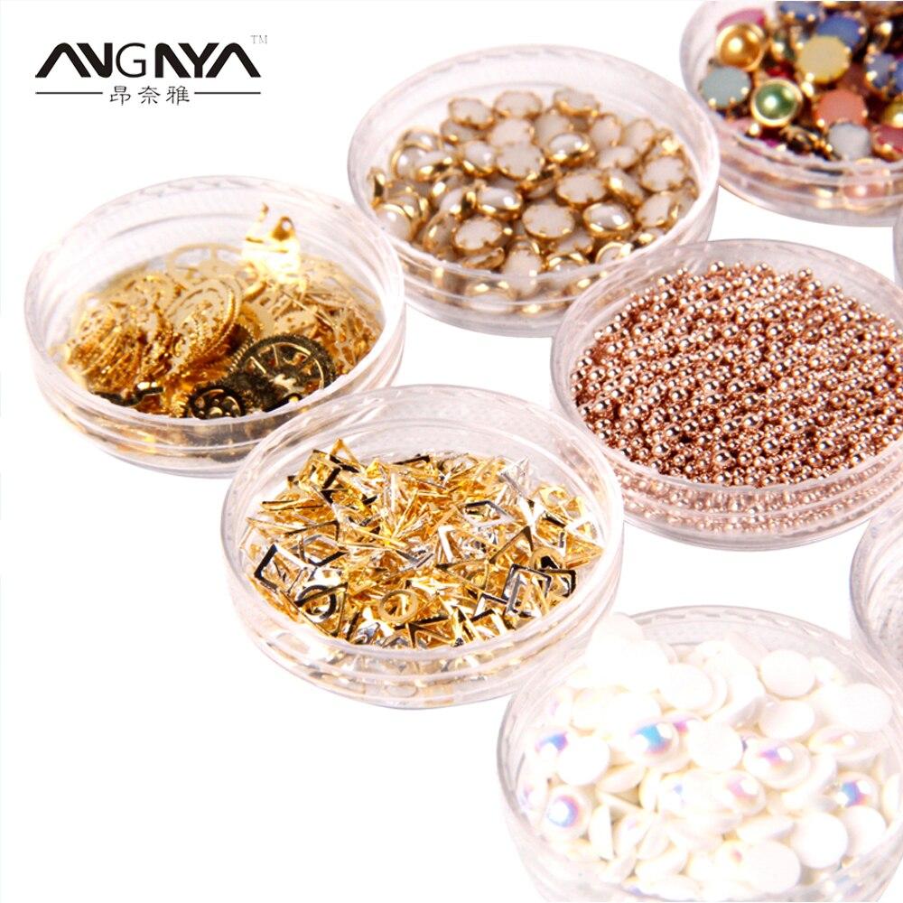ANGNYA 2017 Multiple Nails 3D Beauty Variety UV Gel Polish Design Decoration Nail Polish Diverse DIY Manicure Tip Accessories