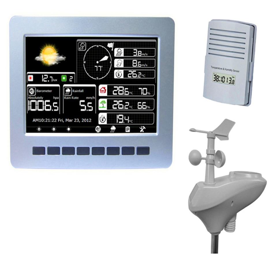 Беспроводная метеостанция WiFi подключение Солнечная зарядка Беспроводная передача данных загрузка данных хранение данных 1 шт.