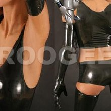 Latex Clothings For Adults including stocking&tank&short&gloves&shorts