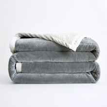 P  Double-sided Thicker Flannel Throw Weighted Blanket Soft Warm Coral Fleece High Grade Plush Bed Sofa Sheets