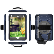 For iPad Mini 5 4 Case with Pencil Holder Heavy Duty Cover 360 Degree Rotation Hand Strap Stand Shoulder Band 2019 Tablet MTL02 heavy duty full height turnstile gate mechanism with options for 120 degree and 90 degree rotation