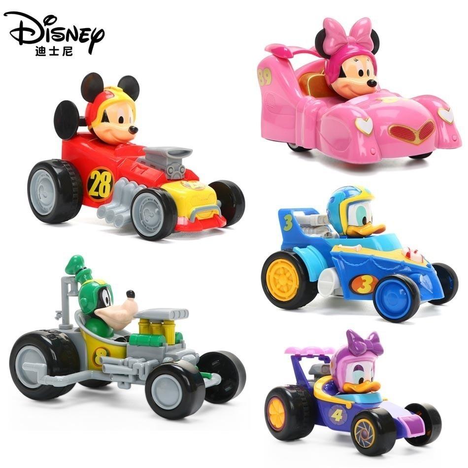 Disney Genuine Mickey Miao Wonder Team Inertia Car Toys Children's Puzzle Donald Duck Toy Car Racing Model Birthday Gift