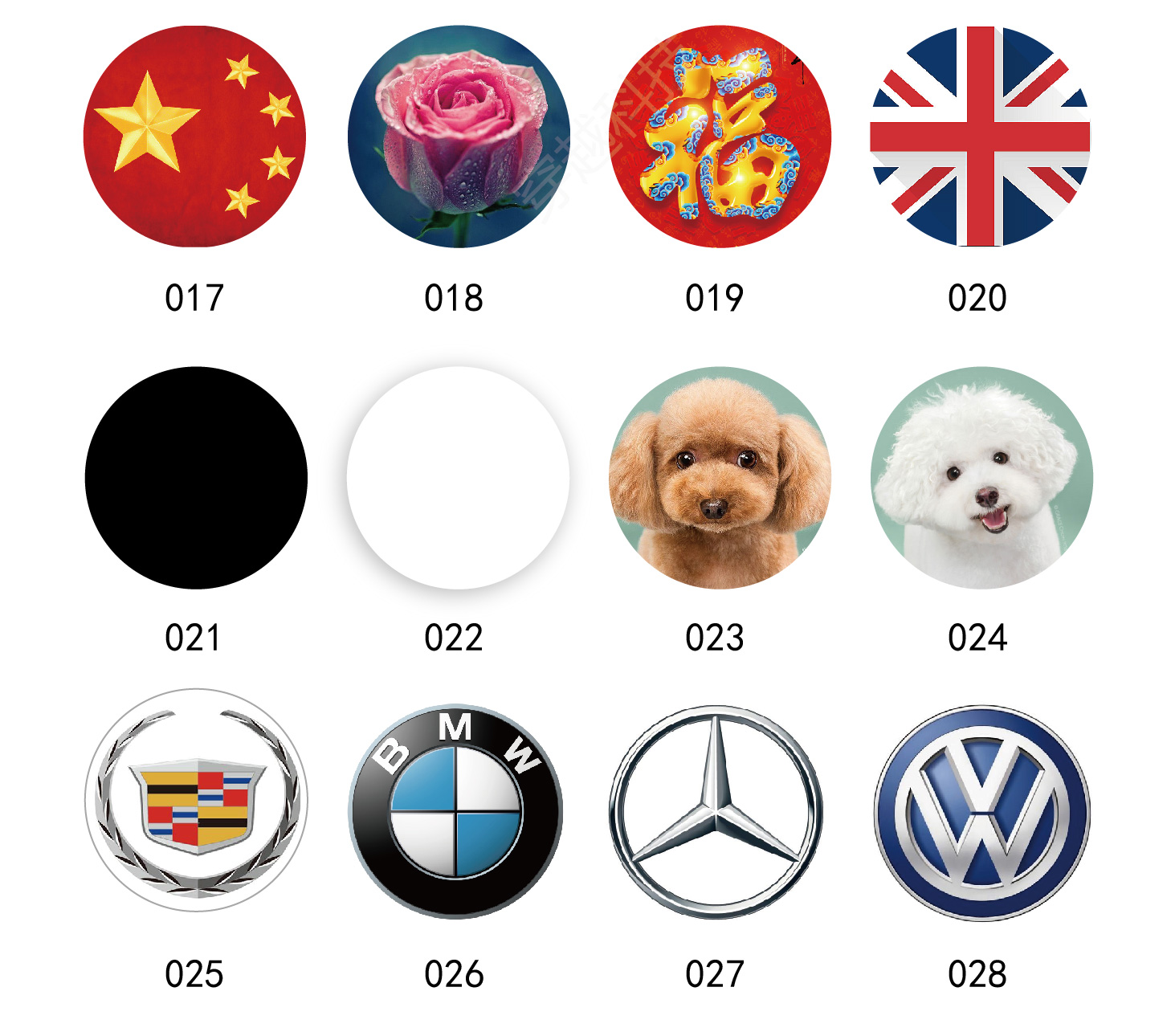 ID&IC 13.56MHZ UID Changeable 1K NFC + 125KHZ T5577 Access Control Tags Writable Stickers Label for Mobile Phone Diameter 42mm