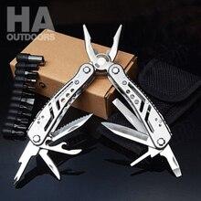 Outdoor  Folding Stainless Steel Multifunction Pliers Knife Screwdriver Tool Multi Plier Survival