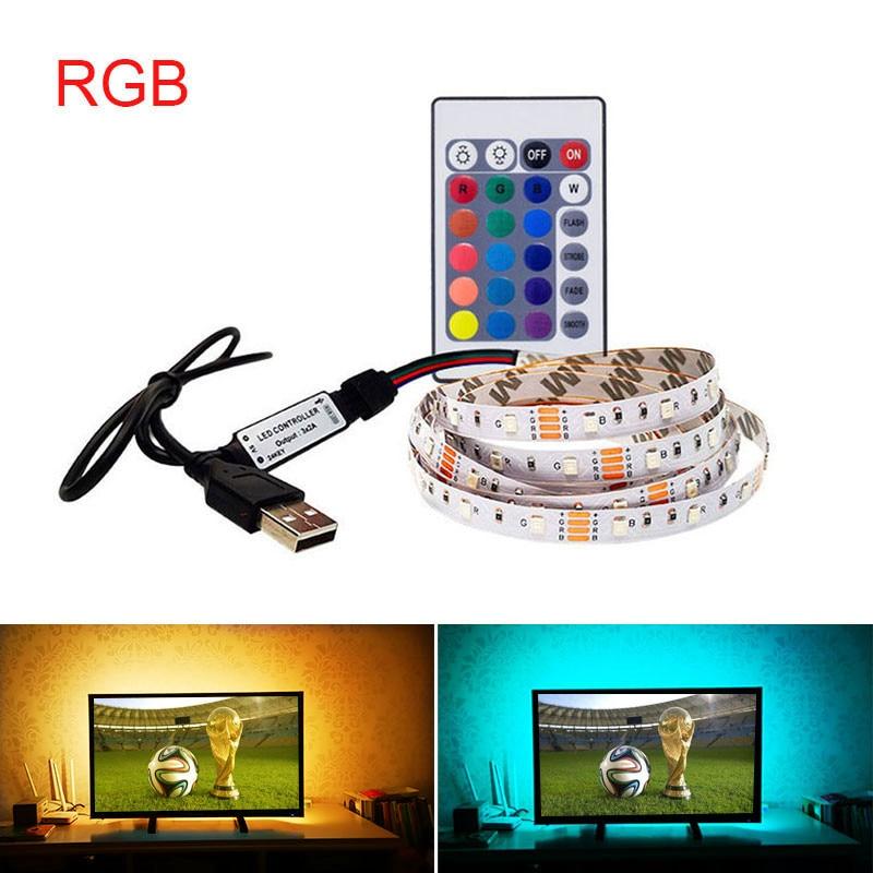 Lights & Lighting Lovely 5v Usb Led Strip Light Power Rgb/white/warm White 2835 3528 Smd 1m 2m 3m 4m Hdtv Tv Desktop Pc Screen Backlight & Bias Lighting Elegant And Sturdy Package