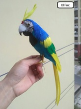 cute real life blue&yellow parrot model foam&feather Cockatoo bird gift about 30cm xf0085