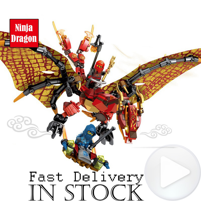 Lepin Ninja Blue Red White Dragon Anime action Figures Building Blocks Bricks Toys For Children Compatible legoingly ninjagoed 588pcs bricks diy ninjagoed movie building blocks compatible legoingly shark ninjagoed mini action figures blocks children toys