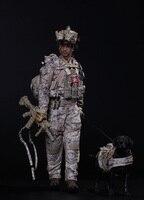 1/6 ВМС США SEAL Team Шесть DEVGRU Halo фигурку с собакой Colletible модель игрушечные лошадки