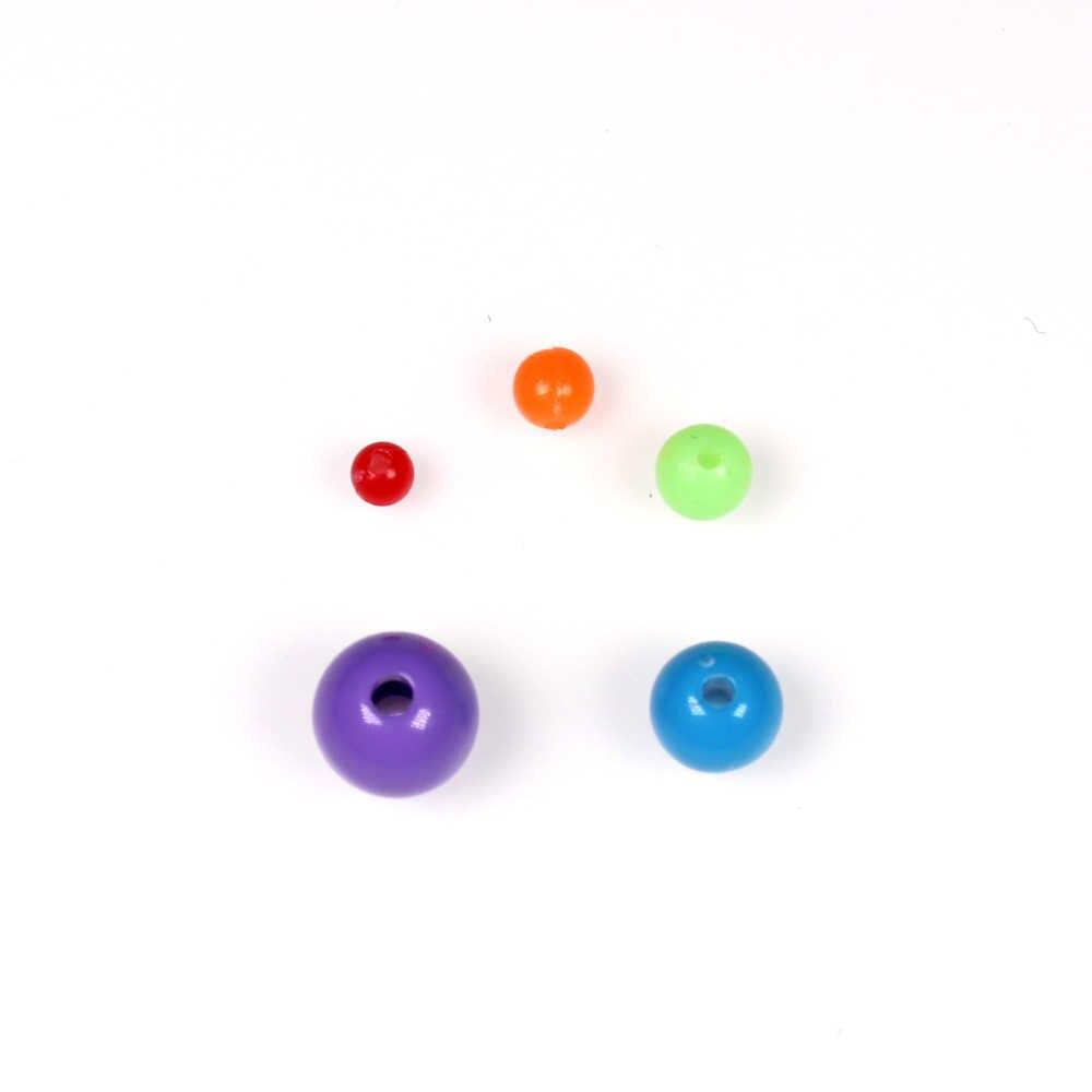 Wifreo 200 шт разноцветные пластиковые бусины для рыболовных такелагов для блесна для спиннинга Sabiki DIY 4 мм 5 мм 6 мм 8 мм