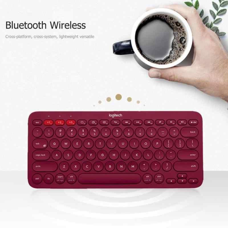 Многоуровневая беспроводная клавиатура с Bluetooth от Logitech K380, ультра мини, бесшумная, для Mac, хромированная ОС, Windows, для iPhone, iPad, Android