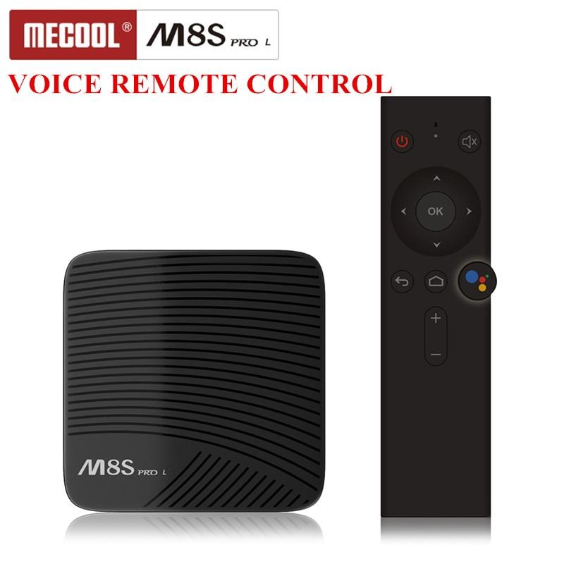 Mecool M8S PRO Tv Box для Android 7,1 Смарт телеприставки Amlogic S912 Cortex-A53 Процессор Bluetooth 4 4 К голос дистанционного Управление PK X96 мини