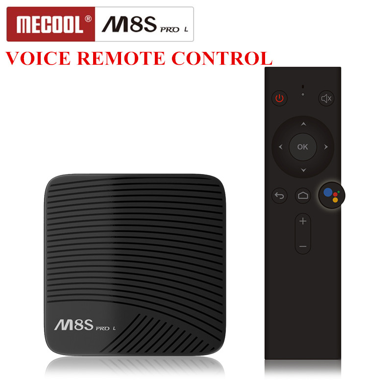 Mecool M8S PRO Tv caja Android 7,1 Smart Set-Top Box Amlogic S912 Cortex-A53 CPU Bluetooth 4 4 K control remoto de voz PK X96 Mini