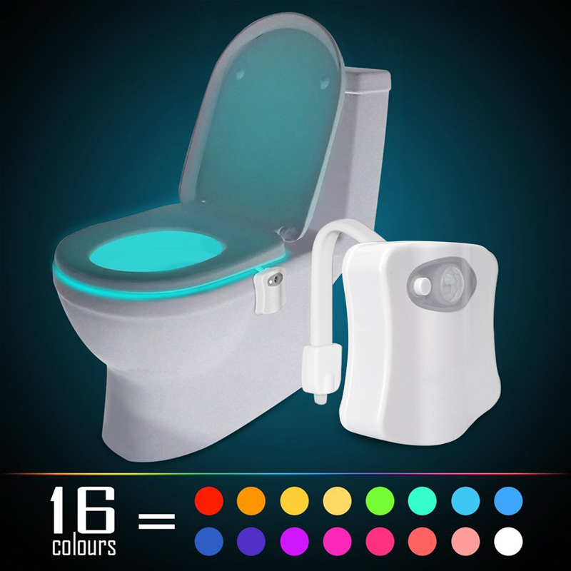 16 Colors LED Toilet Night Light Baby Kids LED Lamp Motion Activated Touch Auto Motion Sensor LED Light Bowl Night Lights yimia creative 4 colors remote control led night lights hourglass night light wall lamp chandelier lights children baby s gifts