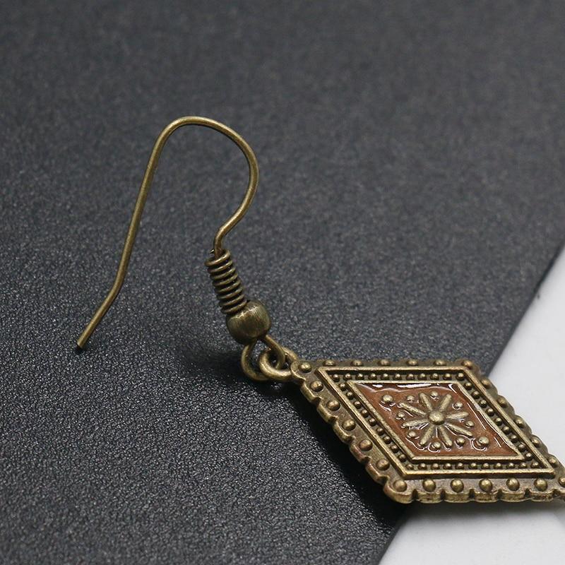 Vintage Feather Earrings Long Pendant Earring Handmade Jewelery Womens Fashion Banquet Accessories Boucles doreilles oorbellen