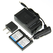 2 PCS Bateria + Carregador LI 10B LI-10B LI10B Bateria de íon Li Recarregável para olympus c-50/6070/470/5000/7000 mju 20 25 30 4