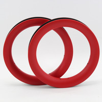 2Pcs Brand New red 12 inch 25mm Slide car scooter push bike matte full carbon fibre bicycle wheels clincher rims 12er Free ship