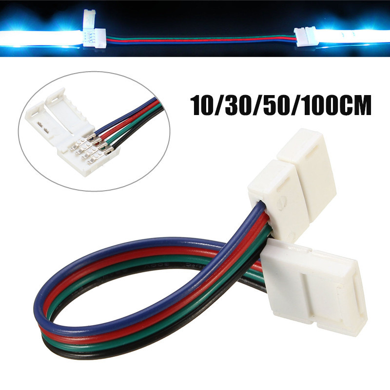 Mising 4 Pin 10MM 10/30/50/100CM RGB LED Strip Light Accessories Adapter Connect For 5050 LED Light Strip