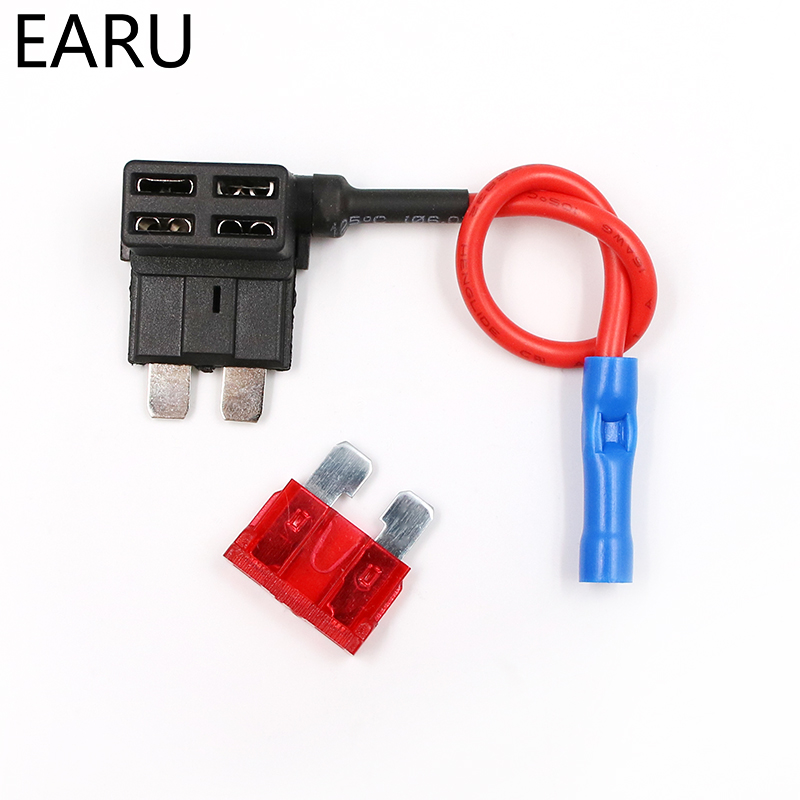 HTB12B2.y3KTBuNkSne1q6yJoXXaz - 12V Fuse Holder Add-a-circuit TAP Adapter Micro Mini Standard Ford ATM APM Blade Auto Fuse with 10A Blade Car Fuse with holder