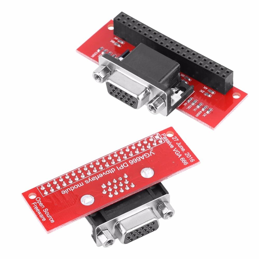 Universial Gert-VGA VGA666 Module Adapter Board Module GPIO To VGA For Raspberry Pi 3/Pi 2B/B+/A+ 100% Tested New