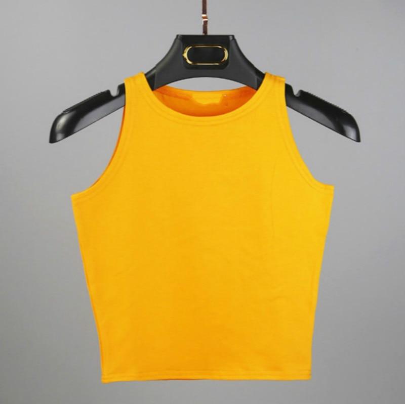 Hot 2018 New Women Sexy Cotton Crop Top Crop Bustier Multicolor Sleeveless Cropped Blusas Vest Tank