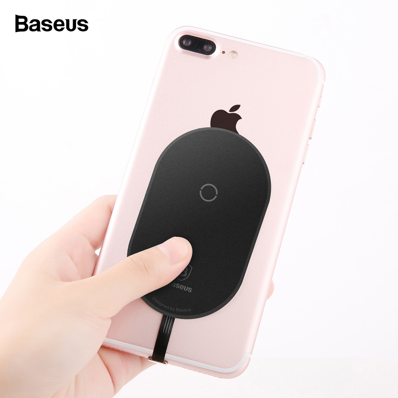 Baseus Qi Wireless Charger Receiver For iPhone 7 6 6s 5 Micro USB Type C Wireless Charging Connector For Samsung Xiaomi Huawei(China)