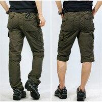 ICPANS Pants Loose Quick Dry Khaki Cargo Pants Men Elastic Waist Summer Casual Army Green Tactical