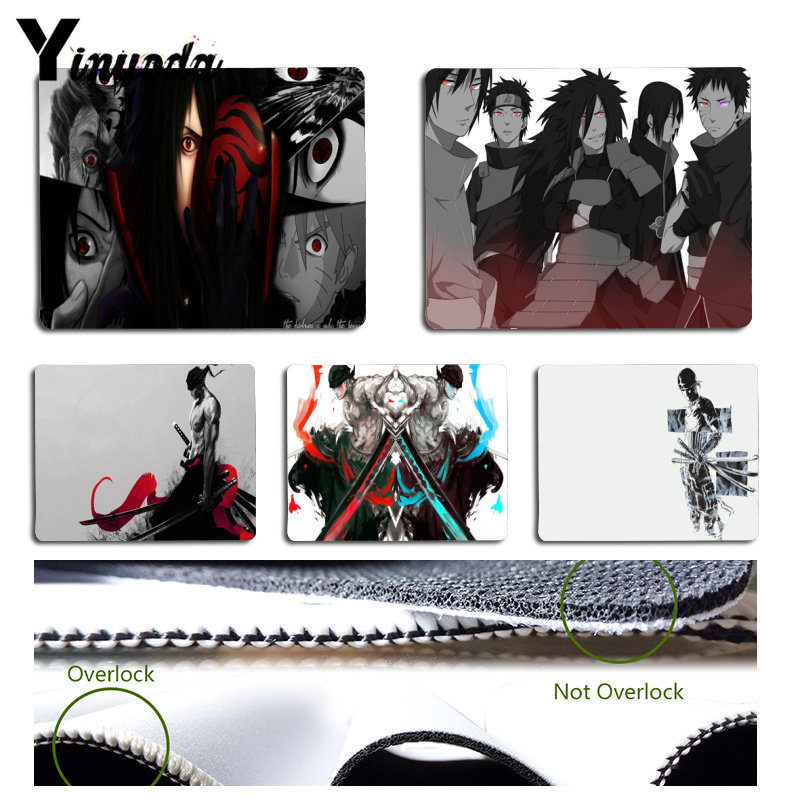 Yinuoda Naruto and One piece gamer play mats Mousepad Size for 18x22x0.2cm Gaming Mousep ...