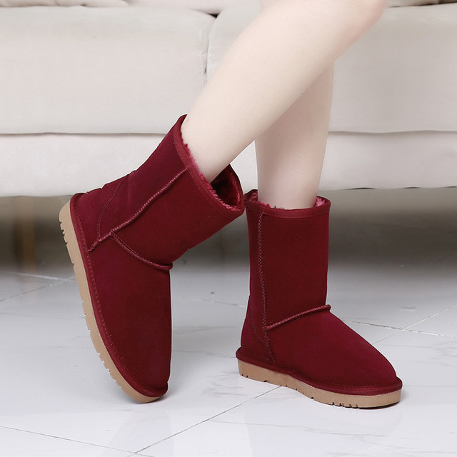 3.28 Anniversary Sale Price Plus Size 42 43 44 45 Genuine Leather Women Boots Winter Boots Ladies Shoes Woman Snow Boots Fur Ins