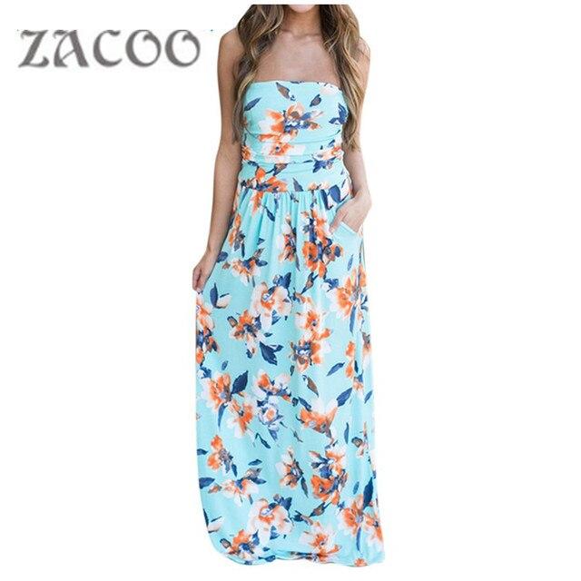 1627252a88 Letnie kwiaty sukienka z nadrukiem Sexy czechy eleganckie kobiety długa  sukienka Maxi sukienki plażowe