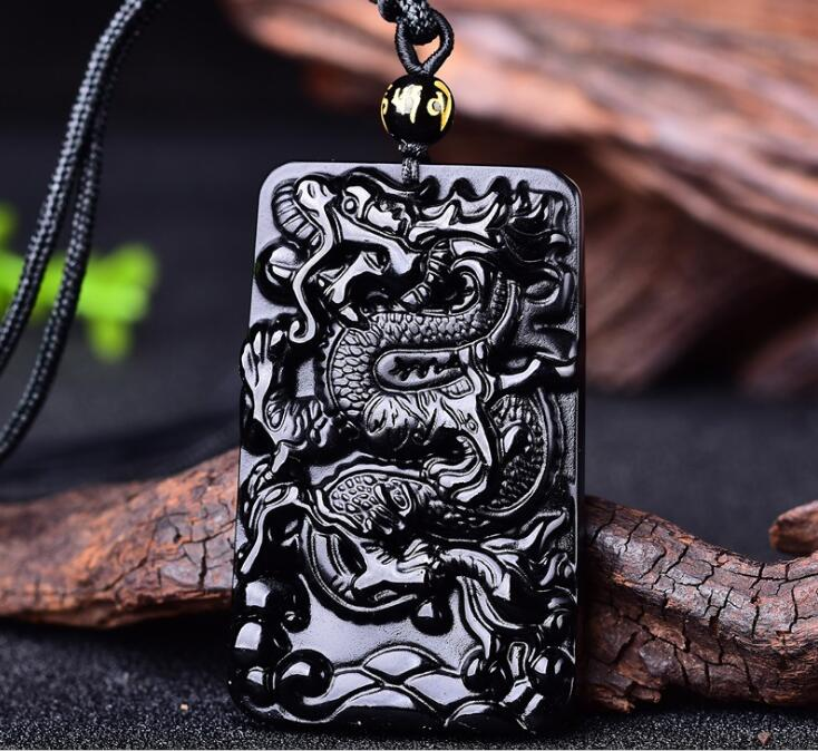 Natural Obsidian Dragon Necklace pendant, mens Necklace Pendant Necklace Pendant couple crystal   Natural Obsidian Dragon Necklace pendant, mens Necklace Pendant Necklace Pendant couple crystal