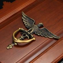 JD цинковый сплав античный Европейский стиль голова Орла дверной молоток дверные ручки домашний декор кольцо оборудование для обработки мебели