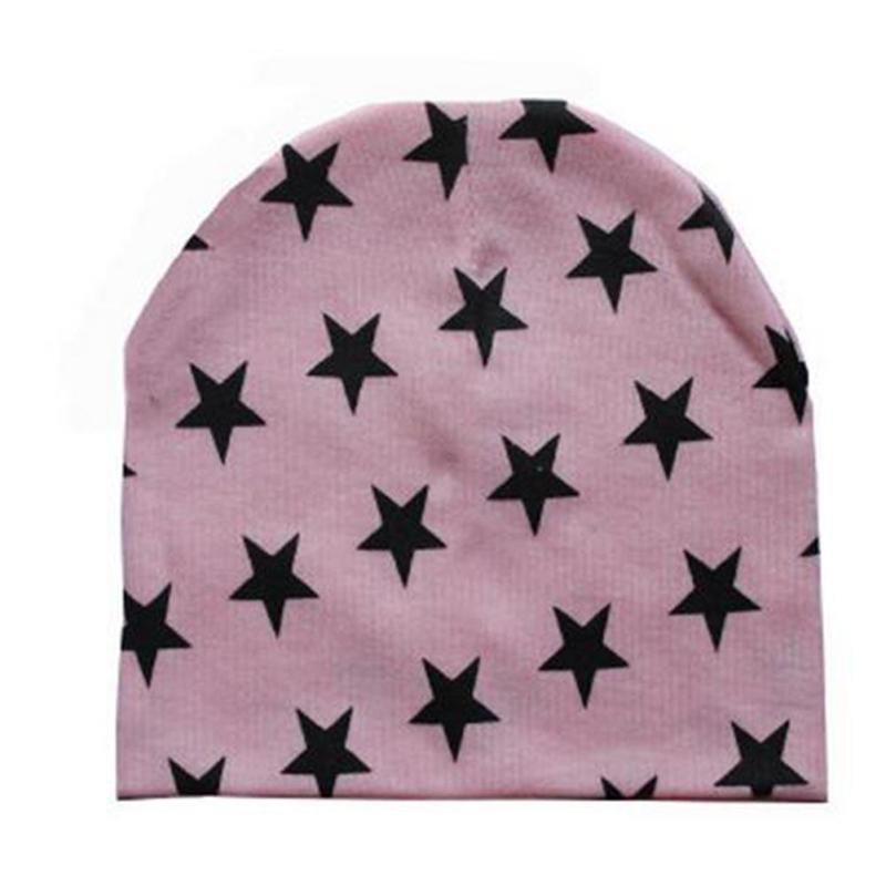 Cute Knitted Cotton Star Print Hat Cap For Kids Boy Girl Spring Autumn Winter Beanie Hats Fashion Children Warm Caps Z2 winter wool red yellow star cap cute knitted hat children boy girl caps