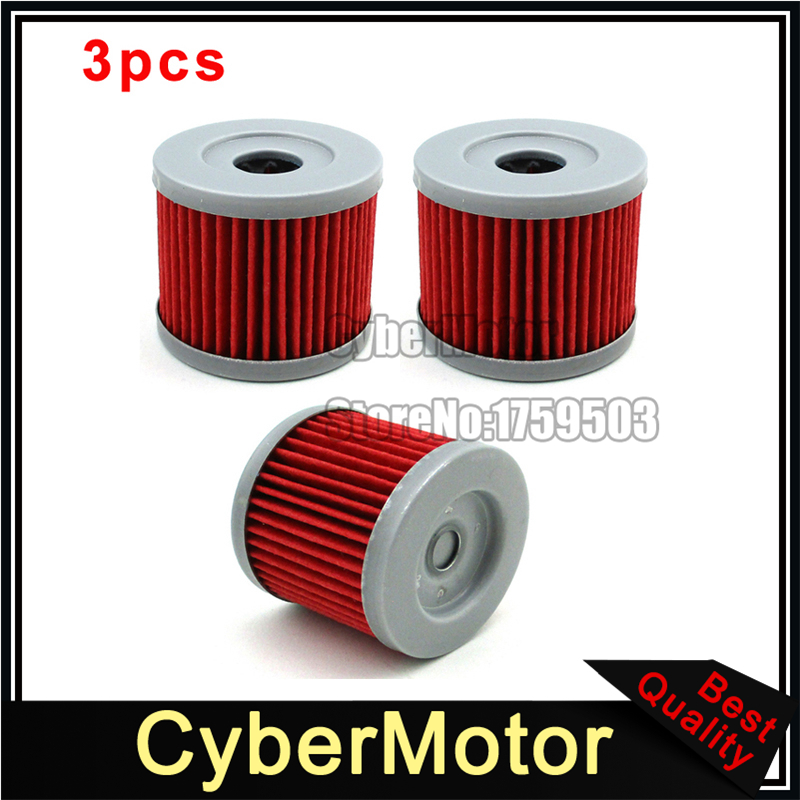 3x Oil Fuel Cleaner Filter For Sinnis Apache 125 QM125GY 125cc K157FMI