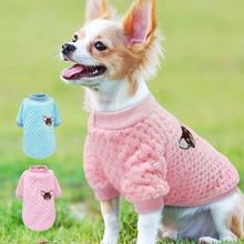 Ropa de Perro bonita para perros pequeños Chihuahua yorkinos Pug Ropa de abrigo de invierno Perro mascota cachorro chaqueta Ropa Perro rosa S-2XL