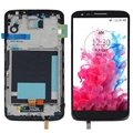 Black LCD For LG G2 D802 D805 Display+Touch Screen Digitizer With Bezel Frame Full Set Replacement, Free Shipping !