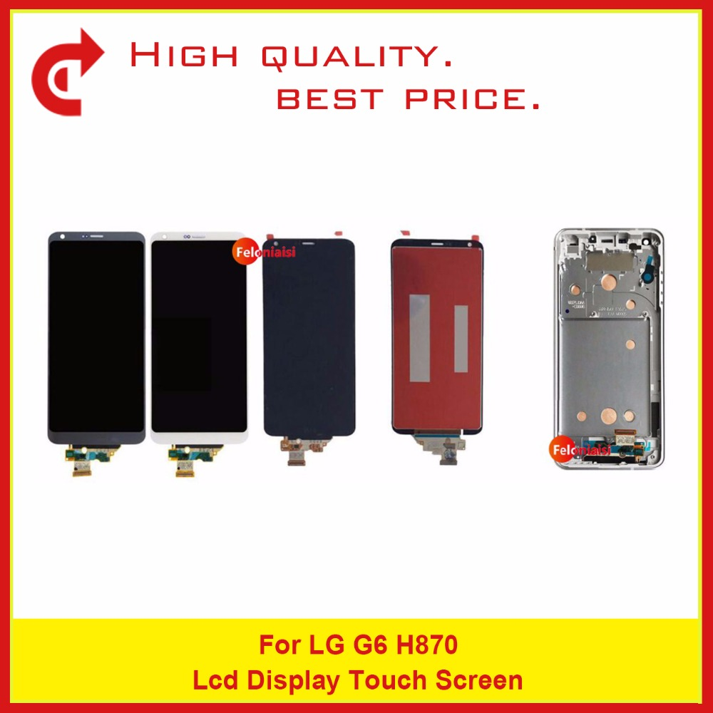 5Pcs/lot Free DHL High Quality 5.7 For LG G6 H870 LCD Display With Touch Screen Digitizer Sensor Panel Assembly Complete5Pcs/lot Free DHL High Quality 5.7 For LG G6 H870 LCD Display With Touch Screen Digitizer Sensor Panel Assembly Complete