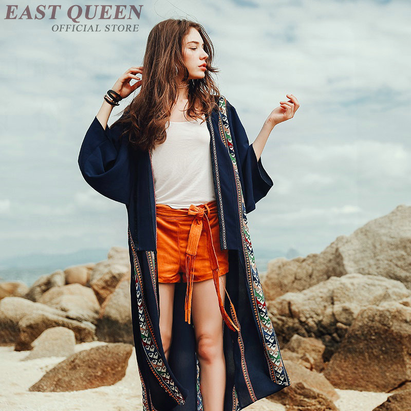 Donne Camicia E Di Hippie Top 1 Chic Kimono Ff1270 Estate Camicette Femminile Tunica Lungo Femme Donna Delle 2018 Boho Signore 5wqvv6O