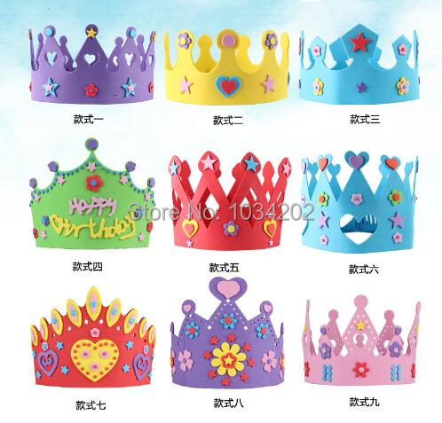 unids de espuma eva corona de cumpleaos para nios la fiesta de cumpleaos sombrero tapas