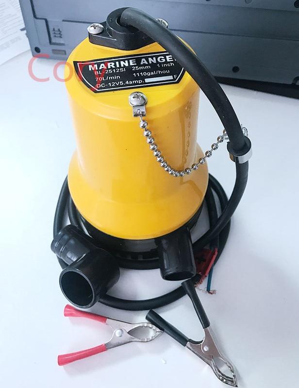 1PCS Mini Submersible Pump Immersible pump Bilge Water Pump Outdoor DC 12V 5.4A 50W 12v dc water pump submersible 50w marine pump fishing boat water pump bilge