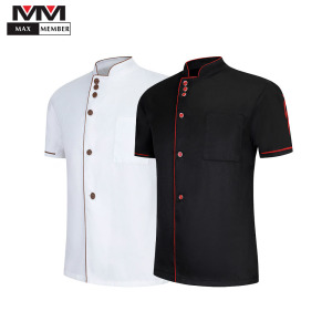 Chef Clothes Wholesaleparty Waiter Waitress Unisex Restaurant Canteen Uniform Kitchen Cook Shirt Hotel Barbershop Work Overalls(China)