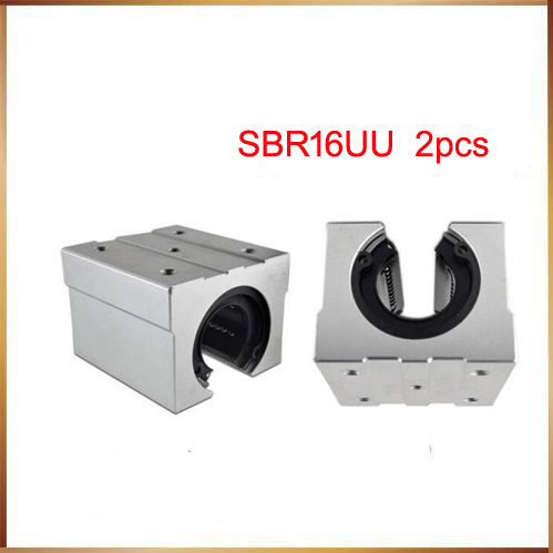 sbr16 free shipping 2pcs/lot Free shipping SBR16UU 16mm Linear Ball Bearing Block CNC Router SBR16 сверло по металлу hss r 10 шт 9 5x125 мм metabo 627785000